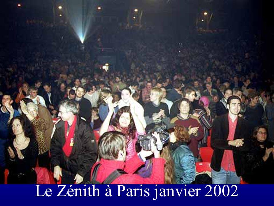 Le Zénith à Paris janvier 2002