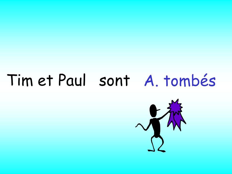 sont A. tombés B. tombé C. tombée ? Tim et Paul