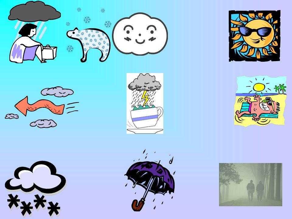 Weather Song Il fait chaud Il fait mauvais Il fait froid (clap clap) Il y a du vent Il pleut Il y a du soleil Il neige Il y a des nuages Et un orage Il y a du brouillard Encore!