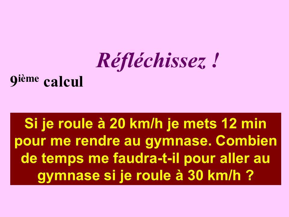Écrivez ! 8 ième calcul Voici les horaires de 5 trajets SNCF Valréas / Lyon. Quelle est la durée du trajet le plus court ? Heure départ de Valréas04:5