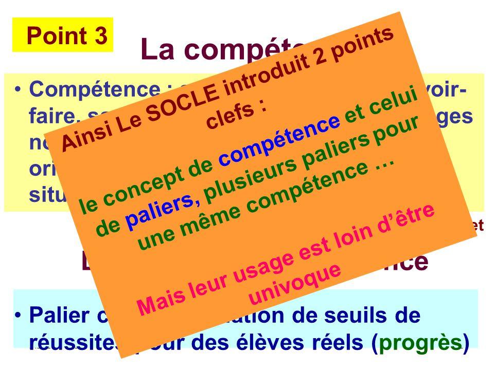AB CEPEC5 Compétence : système de savoirs, savoir- faire, savoir-être, produit d apprentissages nombreux, intériorisés par l individu et orientés vers la maîtrise dune famille de situations globales et complexes.