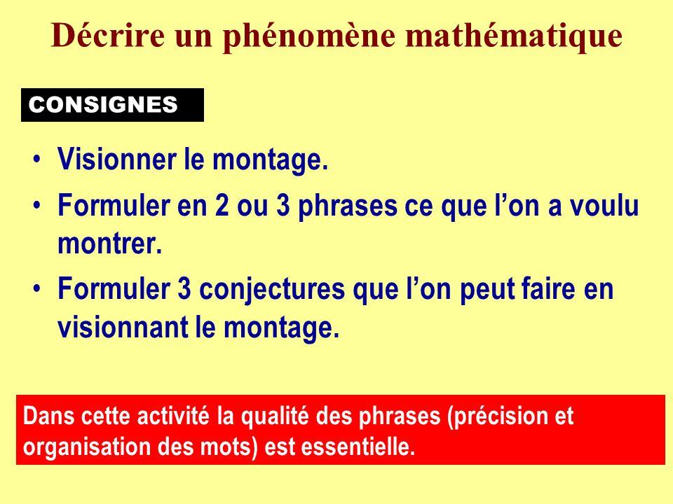 0 Dimension 1Dimension 2PérimètreAire 552025 Un carré de côté 5