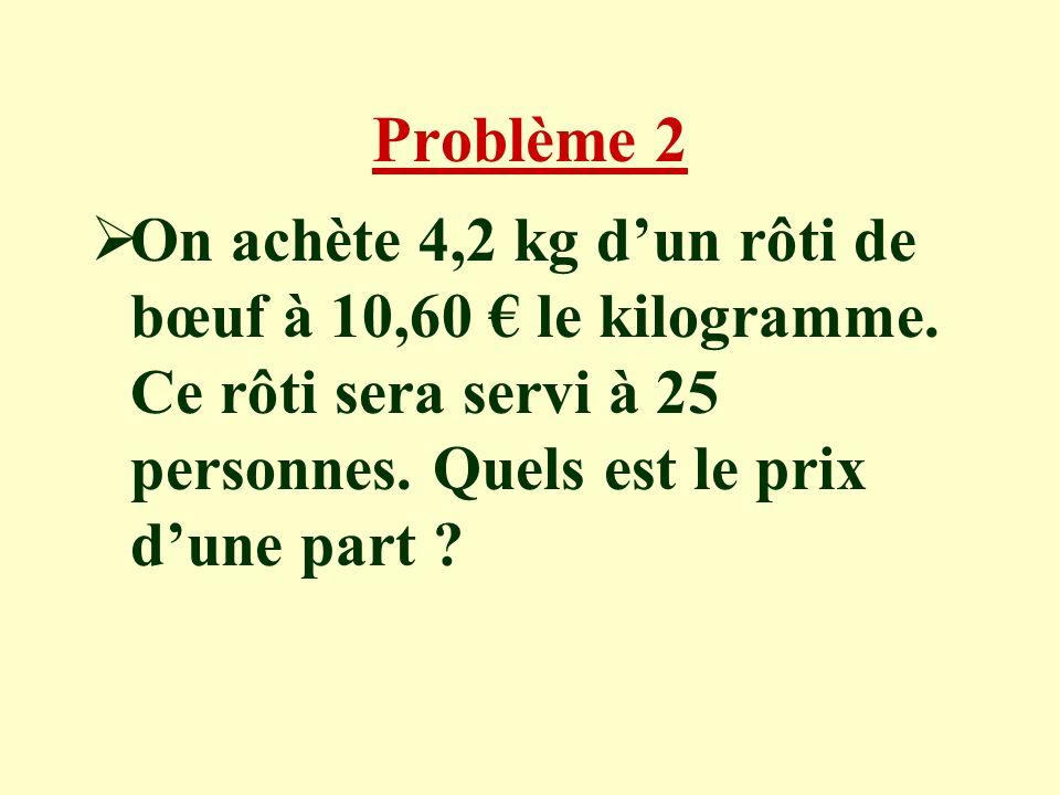 Ecriture des calculs Calcul de la somme totale payée : 2x1,80 + 2,30 = 5,90 Calcul de la somme rendue 10 - 5,90 = 4,10 Le marchand rend 4,10