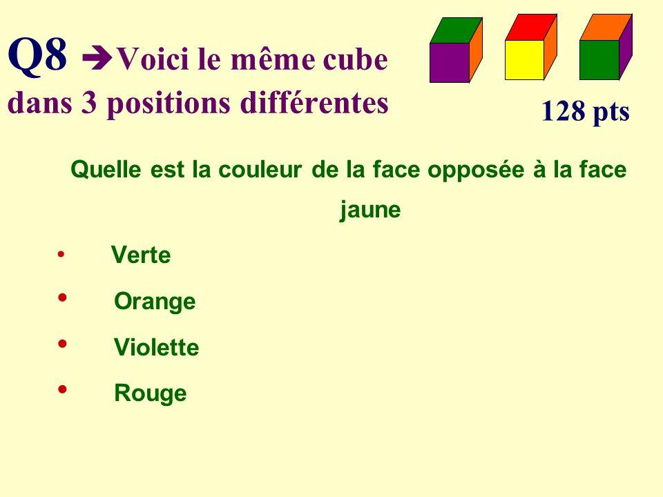 Q7 Parmi les triangles lequel nest pas isocèle 64 pts 45° 36° 70° 50° 72°