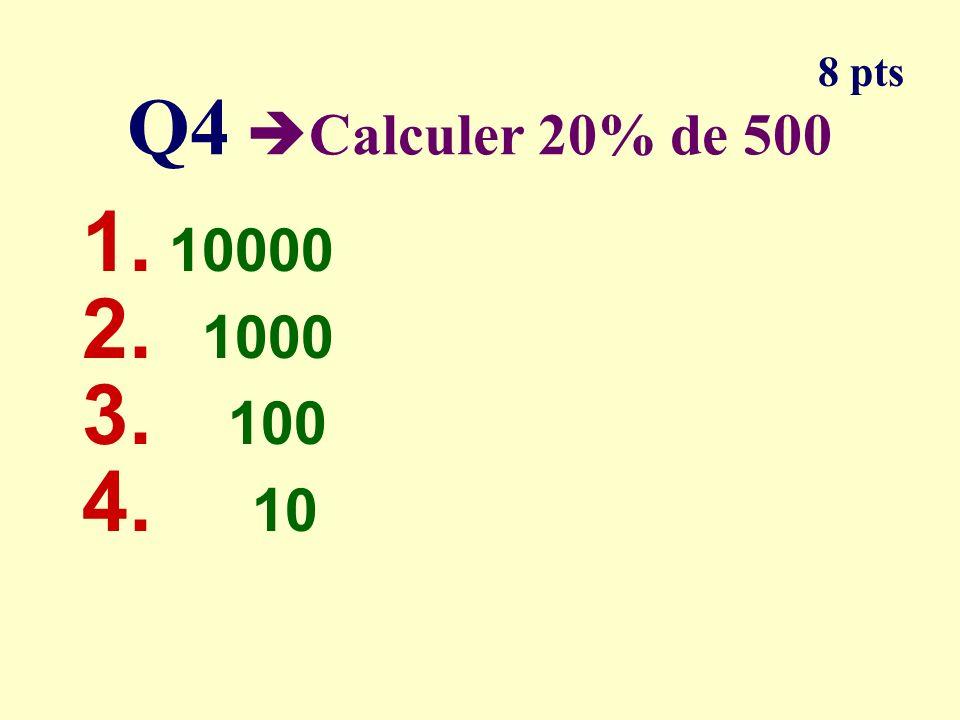 Q3 Parmi les calculs lequel na pas 6 pour résultat 1. 3 2 2. 1,2 x 5 3. 4 x 1,5 4. 2 3 - 2 4 pt