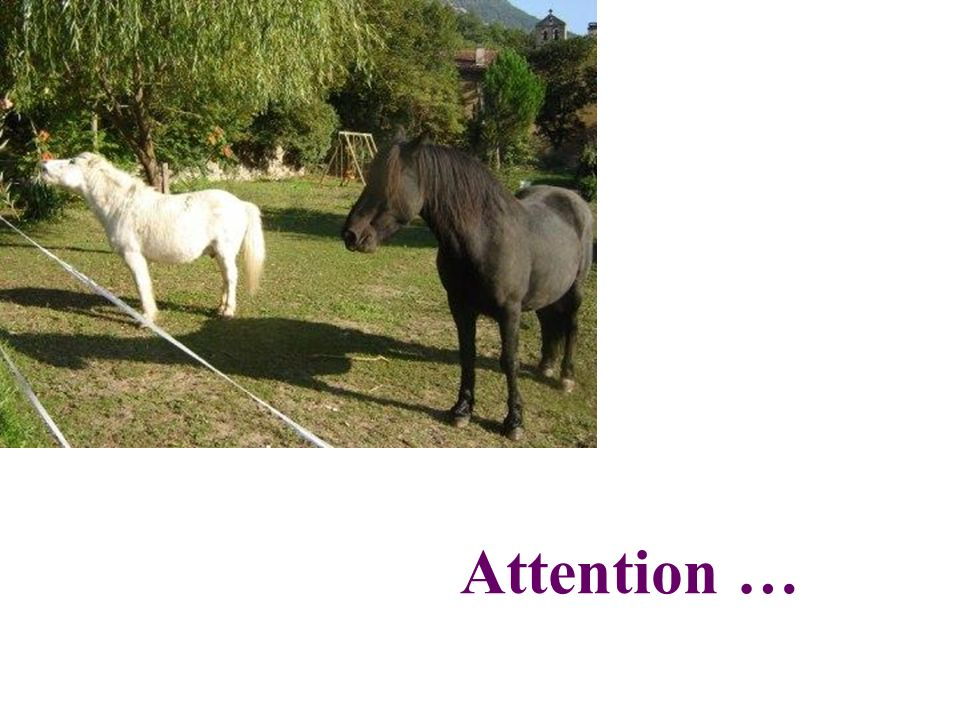 Attention …