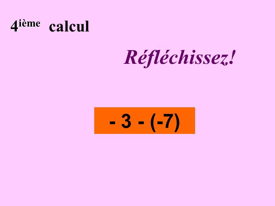 Écrivez ! 3 ième 3 ième calcul - 8 + 6