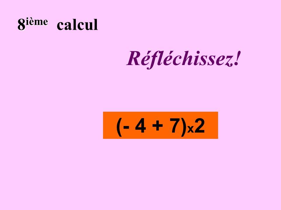 Écrivez! 7 ième 7 ième calcul 2 – 8 + 6