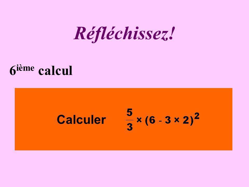 Écrivez ! 5 ième calcul Calculer