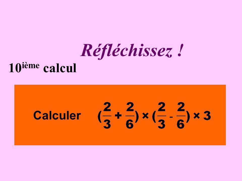 Écrivez ! 9 ième calcul Calculer