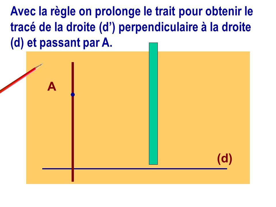 Peut-on tracer une autre droite différente de (d) perpendiculaire à la droite (d) .
