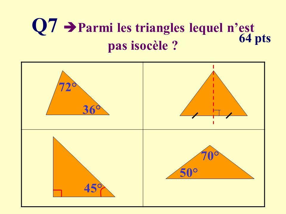 Q6 Quelle équation na pas pour solution 5 1.2(x + 1) = 12 2.