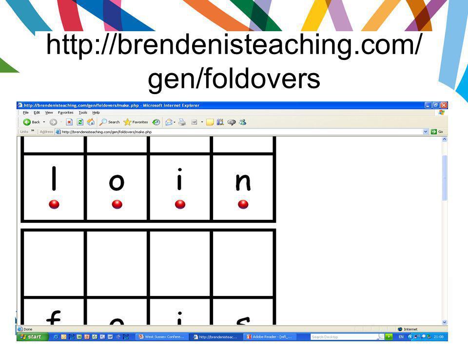 http://brendenisteaching.com/ gen/foldovers