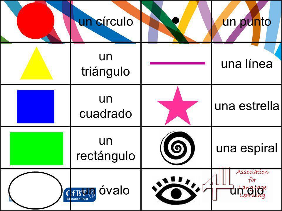 un círculoun punto un triángulo una línea un cuadrado una estrella un rectángulo una espiral un óvaloun ojo
