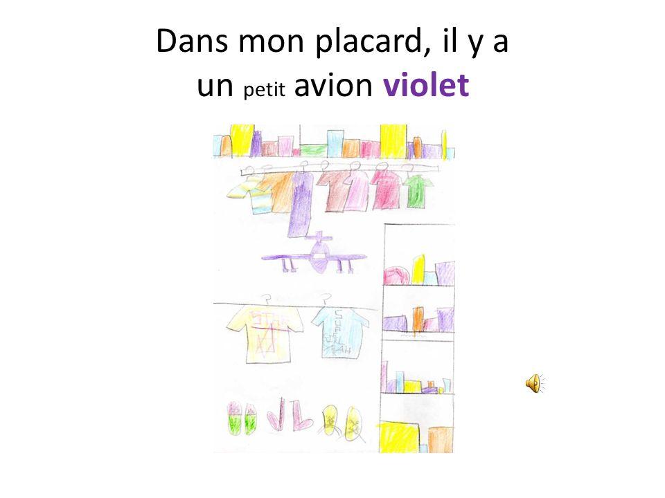 Dans mon placard, il y a un petit avion violet