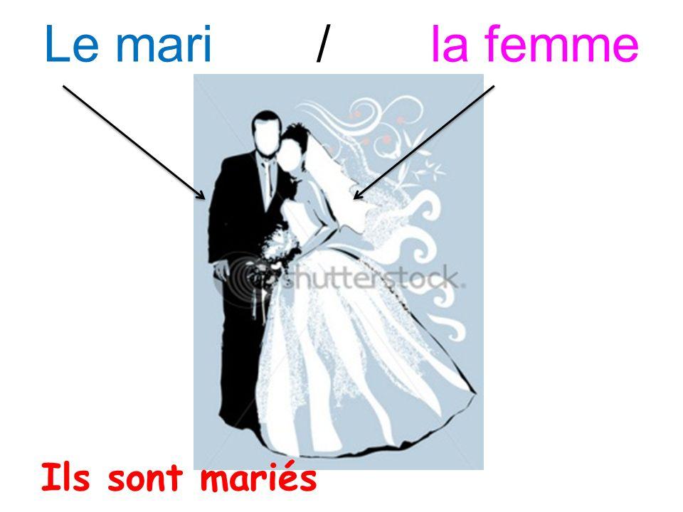 Le mari/ la femme Ils sont mariés
