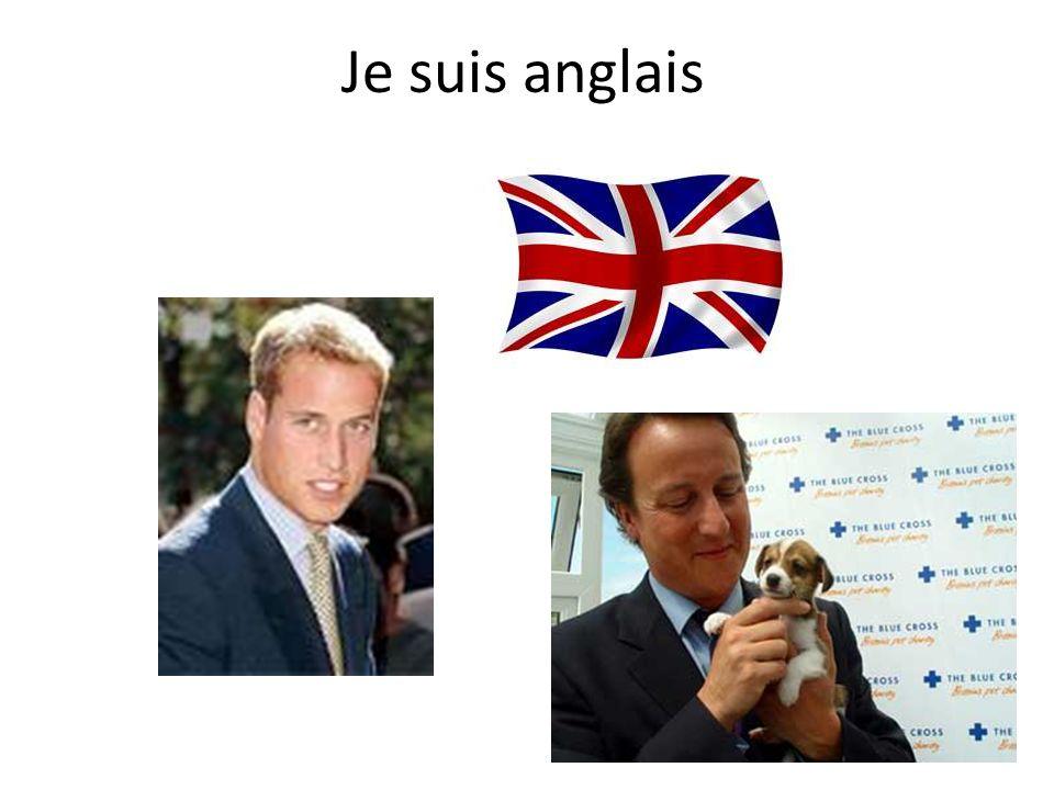 Je suis anglais