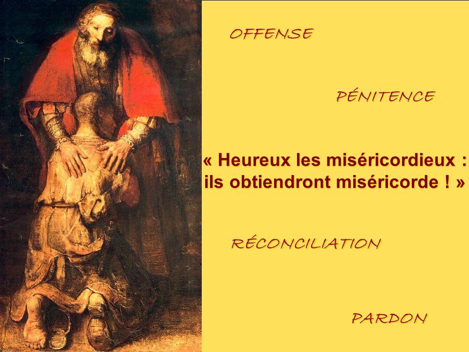 « Heureux les miséricordieux : ils obtiendront miséricorde ! » « Heureux les miséricordieux : ils obtiendront miséricorde ! » PARDON RÉCONCILIATION OF