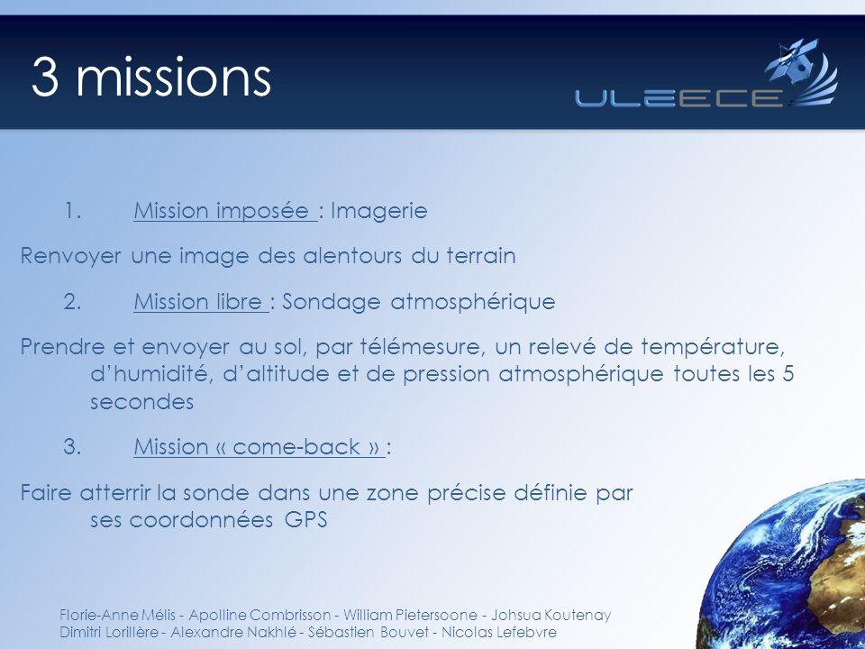 3 missions Florie-Anne Mélis - Apolline Combrisson - William Pietersoone - Johsua Koutenay Dimitri Lorillère - Alexandre Nakhlé - Sébastien Bouvet - N