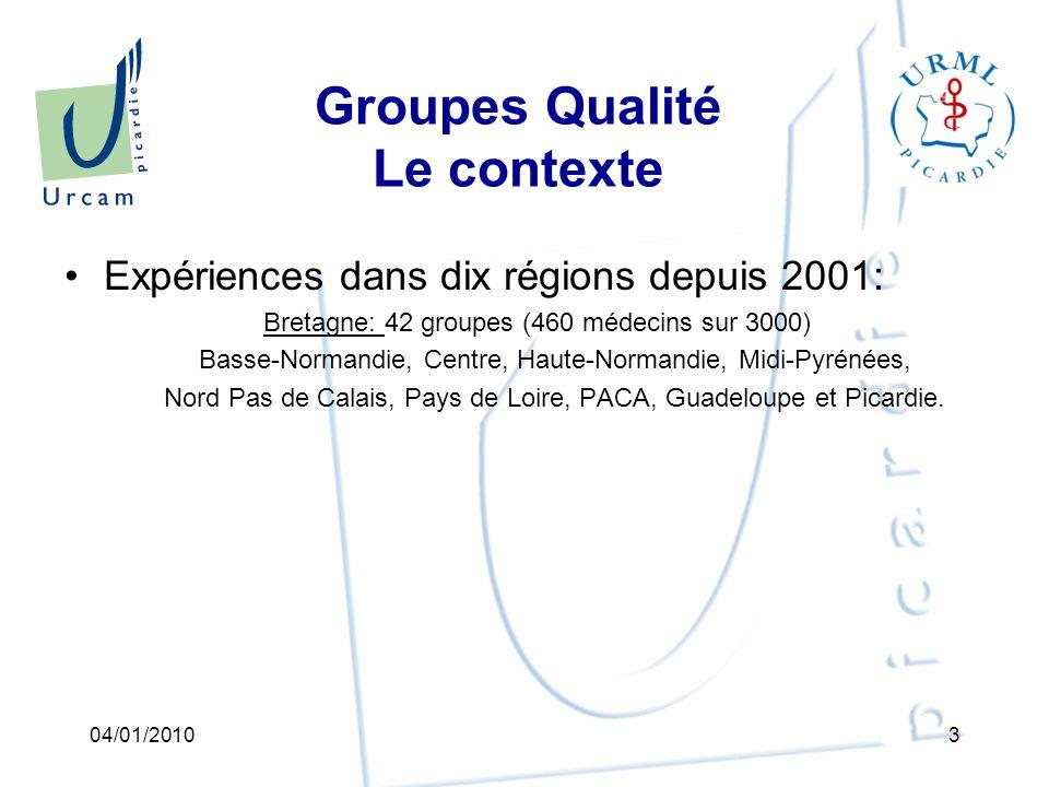 Groupes Qualité Objectif : Accompagner une démarche réflexive visant à améliorer la qualité des soins en médecine de ville par des groupes déchanges de pratiques professionnelles entre médecins généralistes.