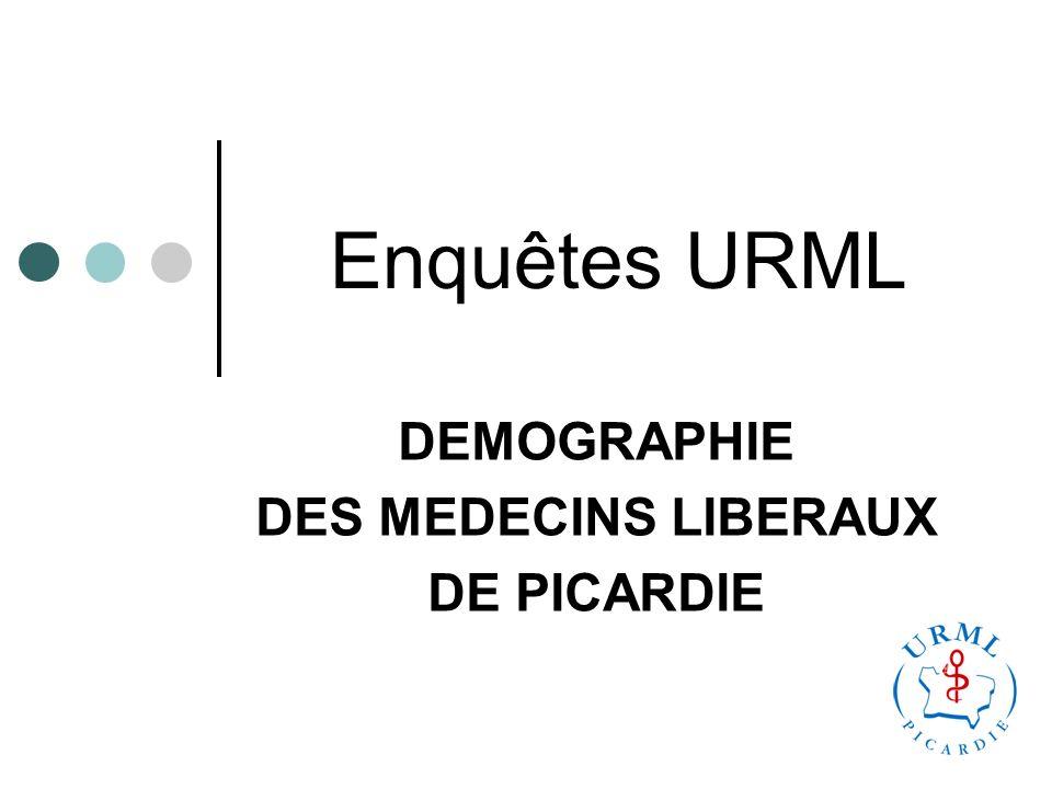 Enquêtes URML DEMOGRAPHIE DES MEDECINS LIBERAUX DE PICARDIE