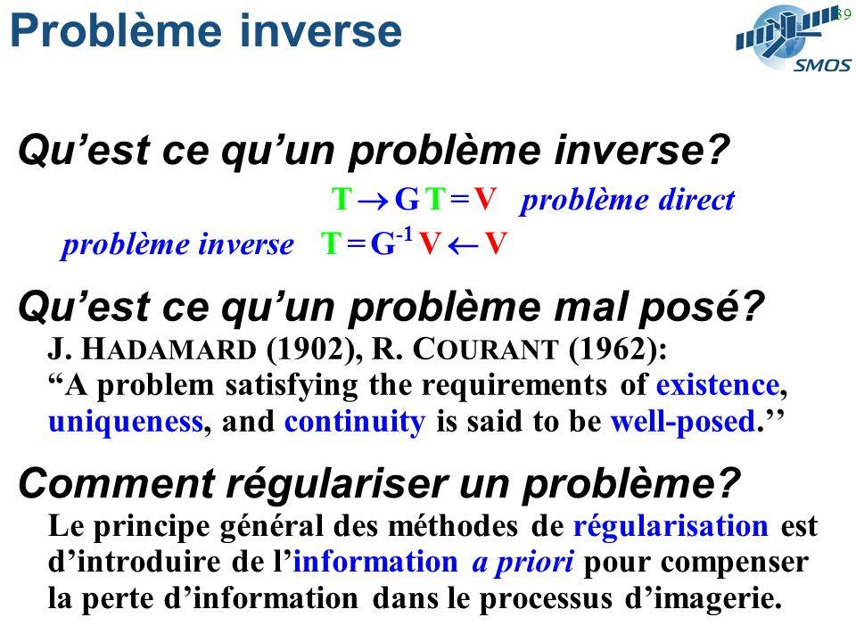 39 Problème inverse Quest ce quun problème mal posé.