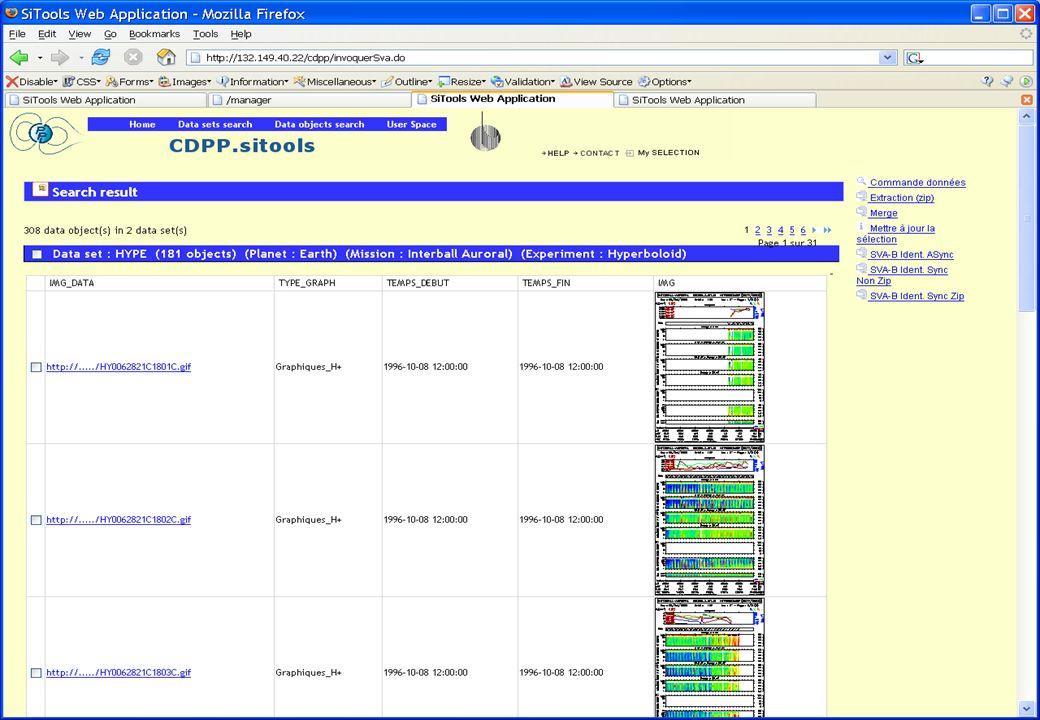Présentation SITools – IAS, juin 2006 28