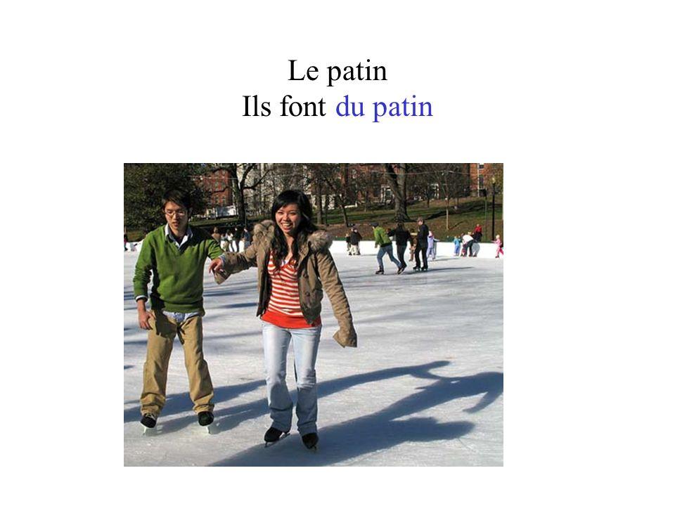 Le patin Ils font du patin