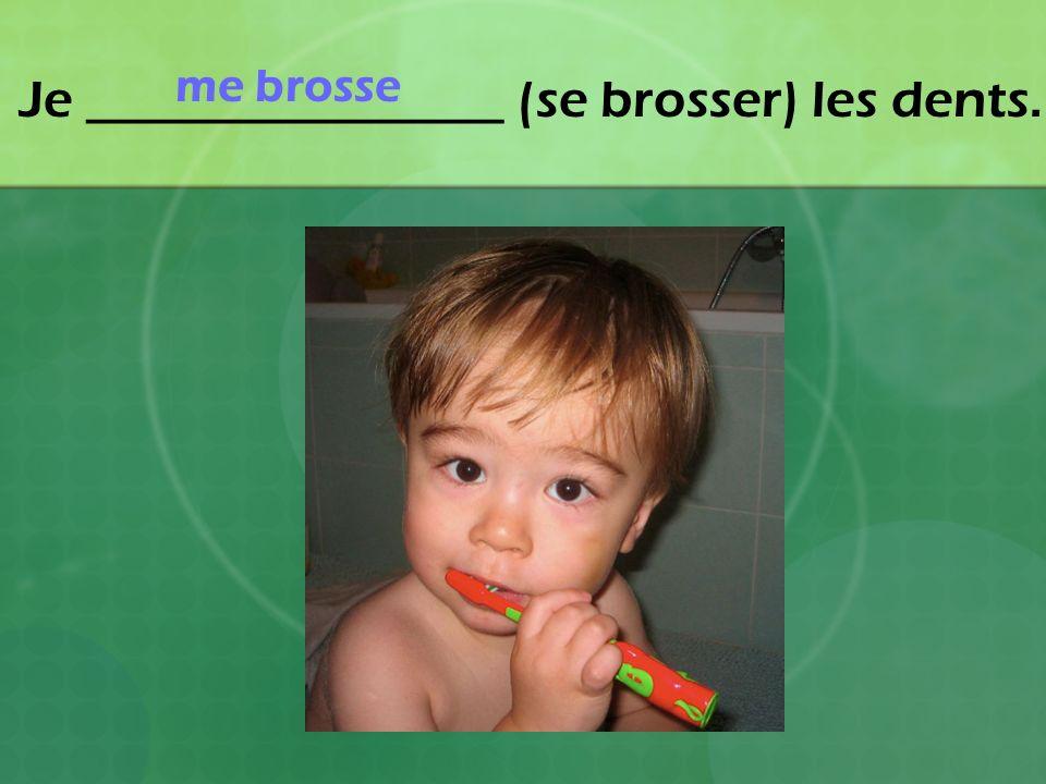 Je ________________ (se brosser) les dents. me brosse