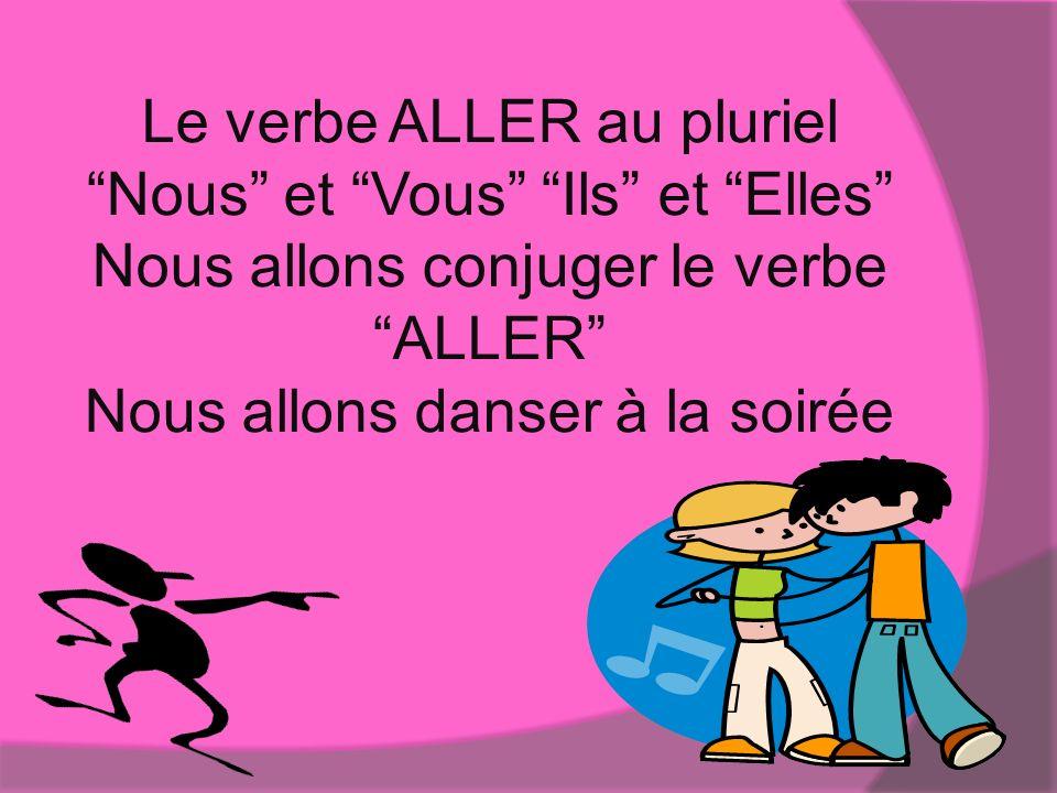 Le verbe ALLER au pluriel Nous et Vous Ils et Elles Nous allons conjuger le verbe ALLER Nous allons danser à la soirée