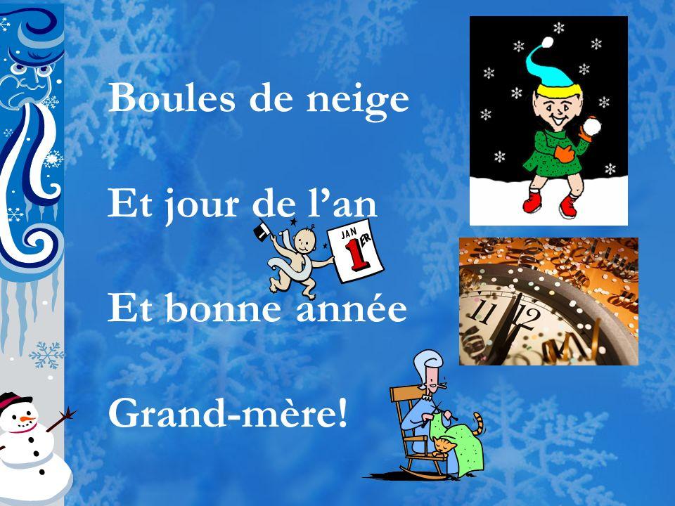Ah, que la neige est belle Qui nous arrive du ciel Voici le temps de Noël Gloire à Emmanuel!