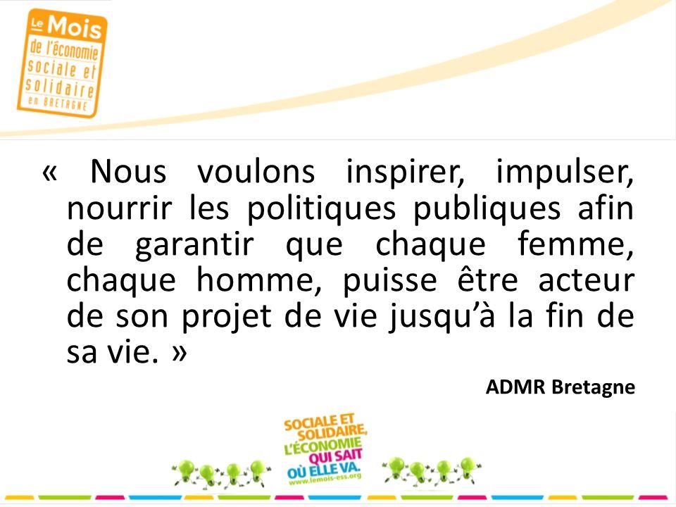 « Nous voulons inspirer, impulser, nourrir les politiques publiques afin de garantir que chaque femme, chaque homme, puisse être acteur de son projet de vie jusquà la fin de sa vie.