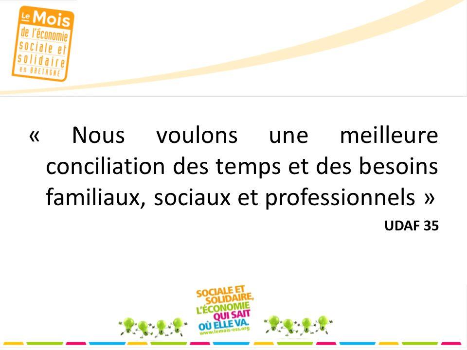 « Nous voulons une meilleure conciliation des temps et des besoins familiaux, sociaux et professionnels » UDAF 35