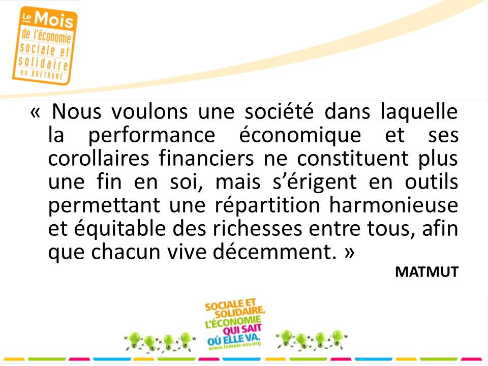 Nous voulons …... consommer responsable