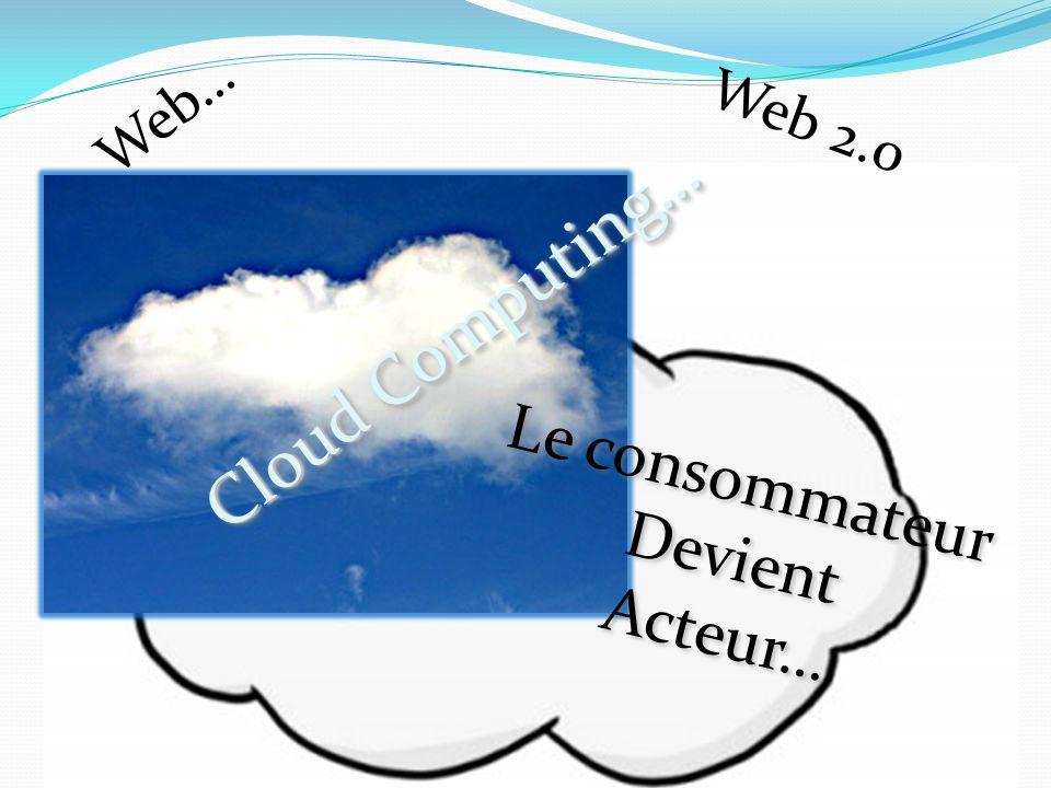 Web… Web 2.0 Cloud Computing… Le consommateur Devient Acteur… Le consommateur Devient Acteur…