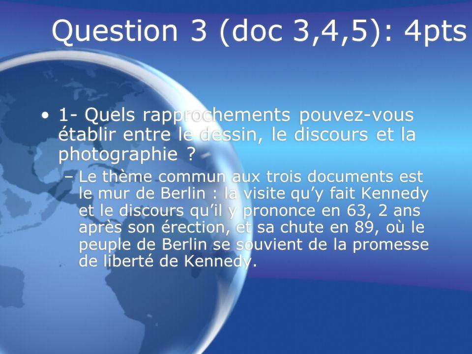 Question 3 (doc 3,4,5): 4pts 2- Quels rapports de force illustrent les deux situations .