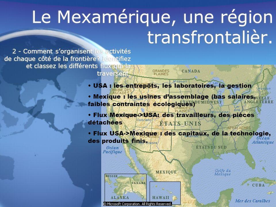 Le Mexamérique, une région transfrontalièr.