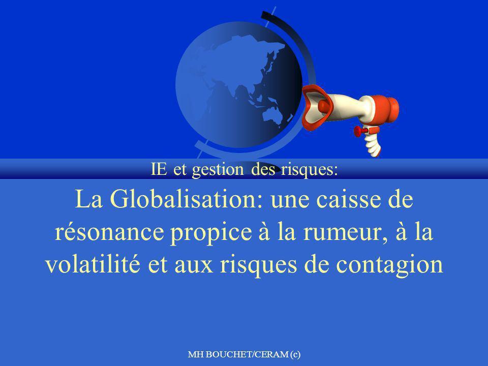 MH BOUCHET/CERAM (c) IE et gestion des risques: La Globalisation: une caisse de résonance propice à la rumeur, à la volatilité et aux risques de conta