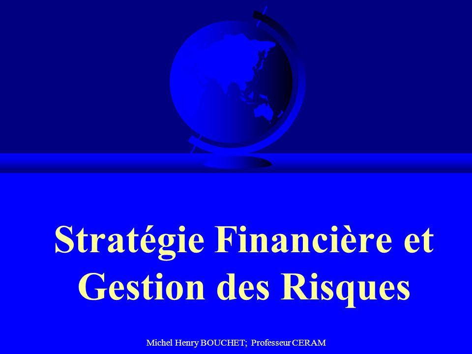 Michel Henry BOUCHET; Professeur CERAM Stratégie Financière et Gestion des Risques