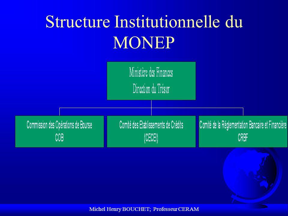Michel Henry BOUCHET; Professeur CERAM Structure Institutionnelle du MONEP