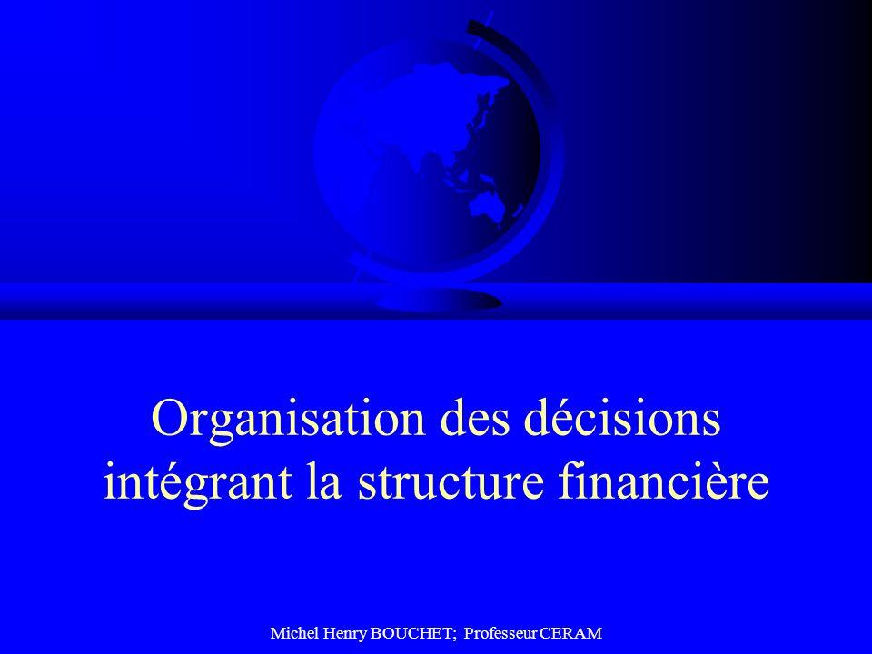 Michel Henry BOUCHET; Professeur CERAM Organisation des décisions intégrant la structure financière