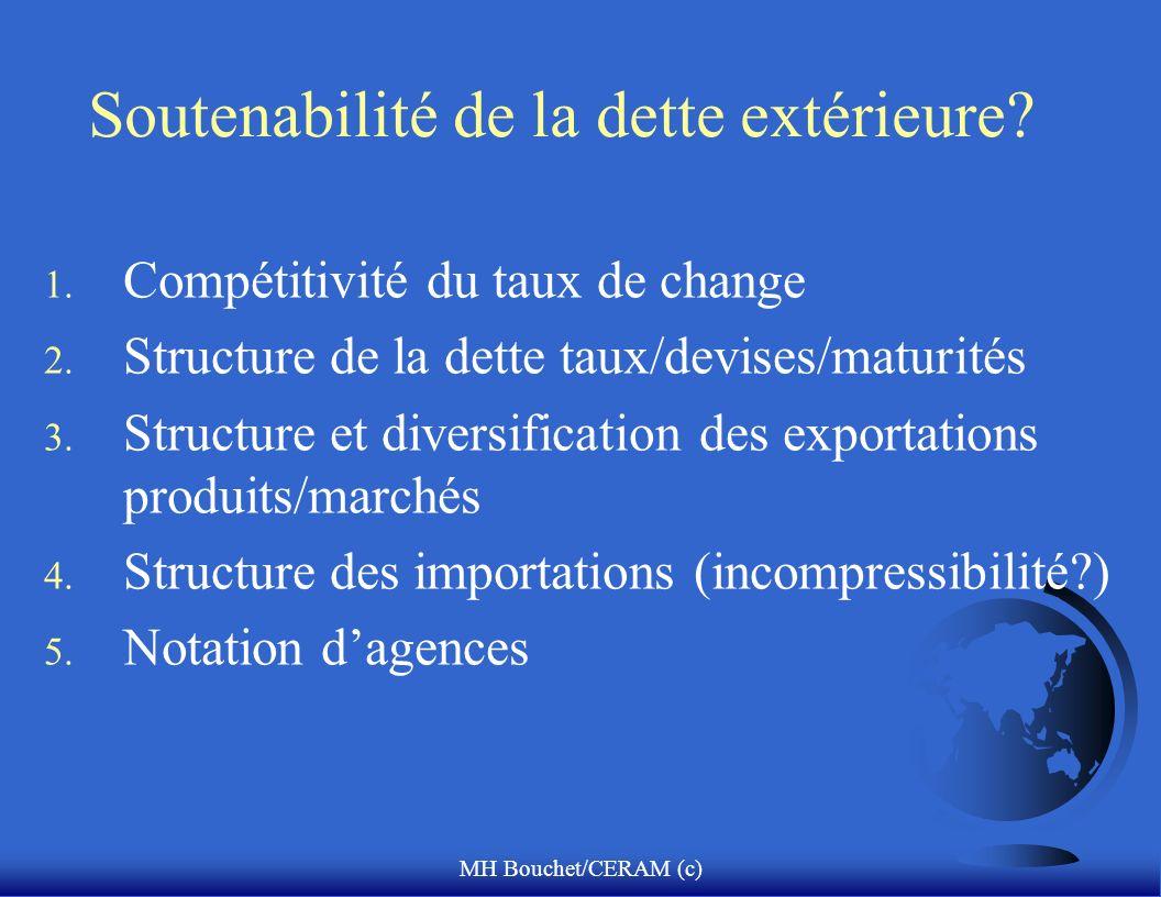 MH Bouchet/CERAM (c) Soutenabilité de la dette extérieure.