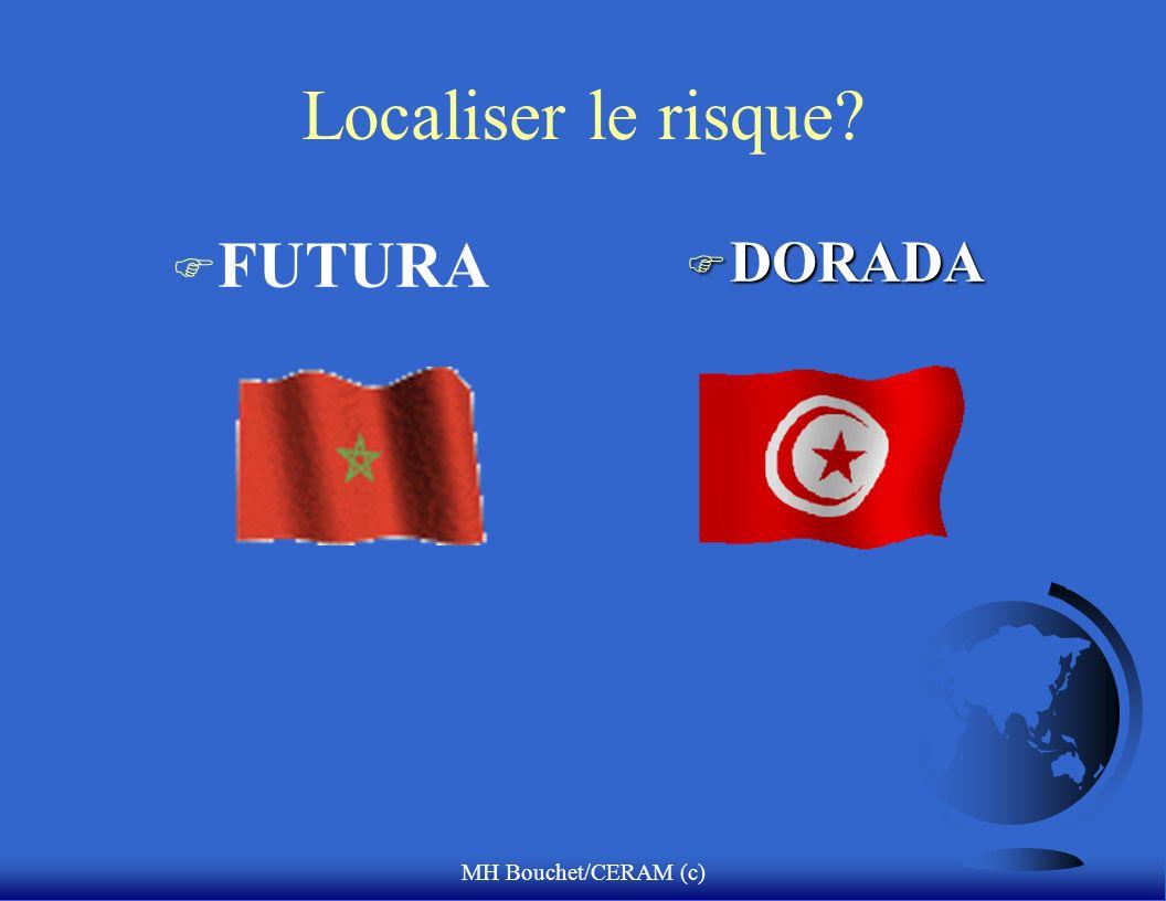 MH Bouchet/CERAM (c) Localiser le risque? F FUTURA F DORADA