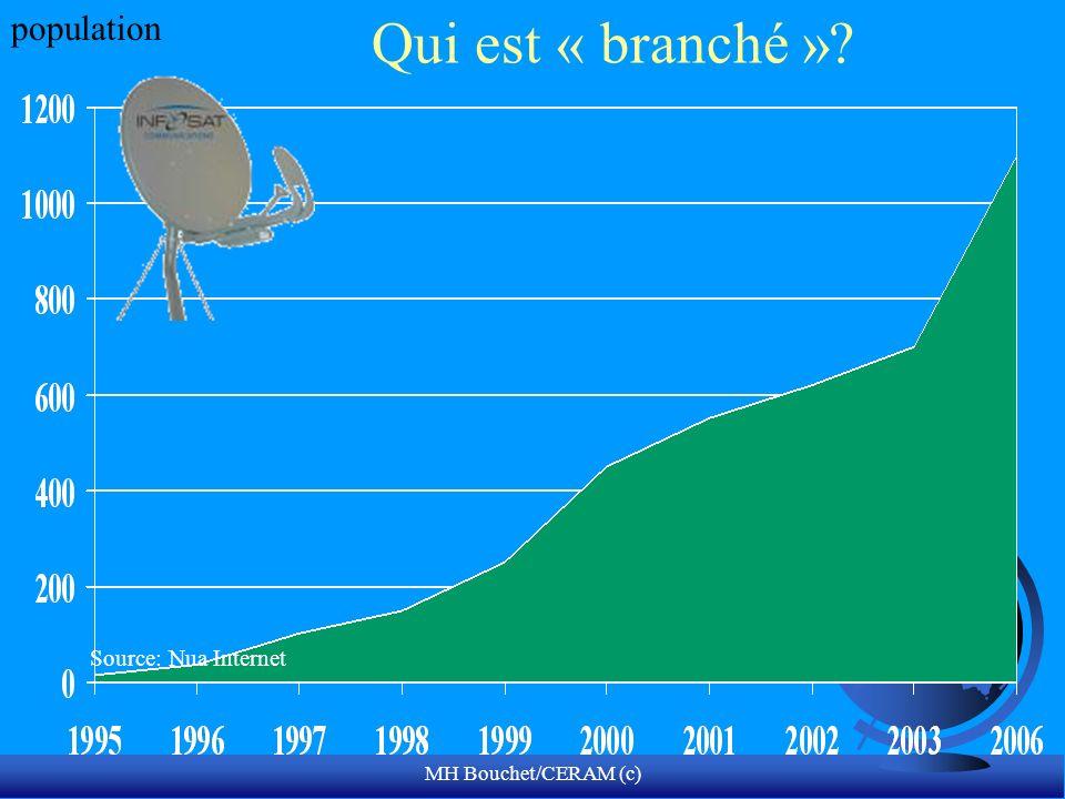 MH Bouchet/CERAM (c) Qui est « branché »? Source: Nua Internet population