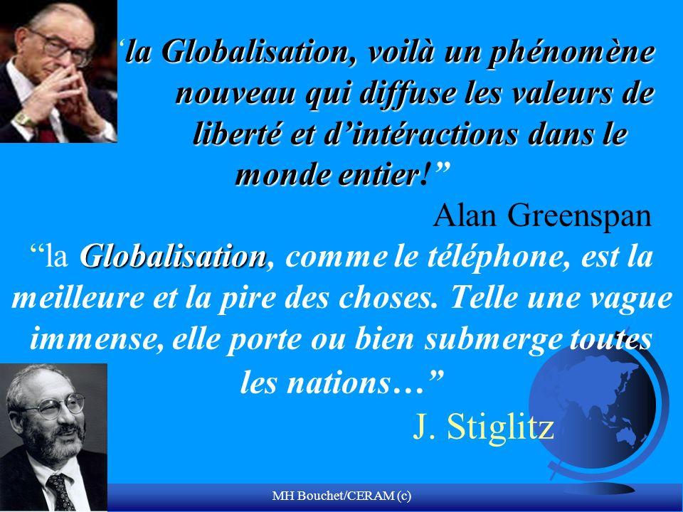 MH Bouchet/CERAM (c) la Globalisation, voilà un phénomène nouveau qui diffuse les valeurs de liberté et dintéractions dans le monde entier Globalisati