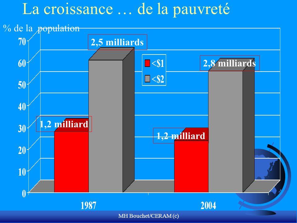 MH Bouchet/CERAM (c) La croissance … de la pauvreté % de la population 1,2 milliard 2,5 milliards 2,8 milliards