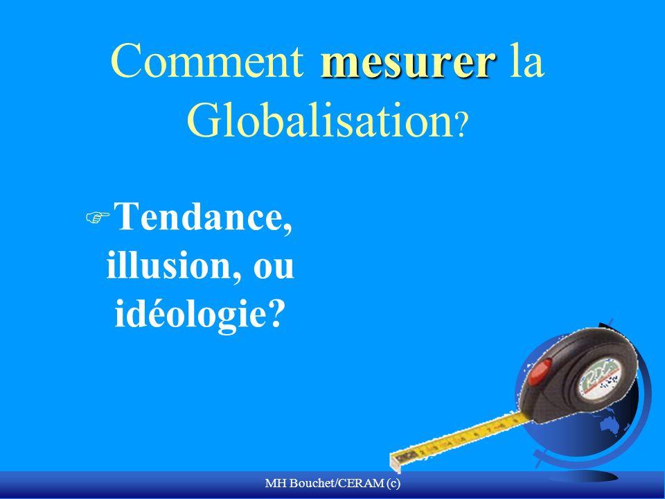 MH Bouchet/CERAM (c) mesurer Comment mesurer la Globalisation F Tendance, illusion, ou idéologie