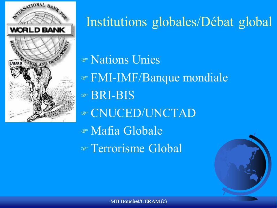 MH Bouchet/CERAM (c) Institutions globales/Débat global F Nations Unies F FMI-IMF/Banque mondiale F BRI-BIS F CNUCED/UNCTAD F Mafia Globale F Terrorisme Global