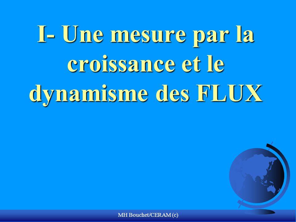 MH Bouchet/CERAM (c) I- Une mesure par la croissance et le dynamisme des FLUX