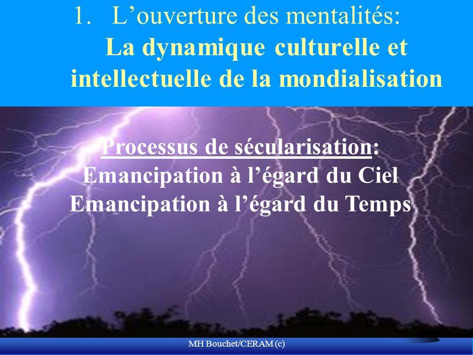 MH Bouchet/CERAM (c) 1.Louverture des mentalités: La dynamique culturelle et intellectuelle de la mondialisation Processus de sécularisation: Emancipa